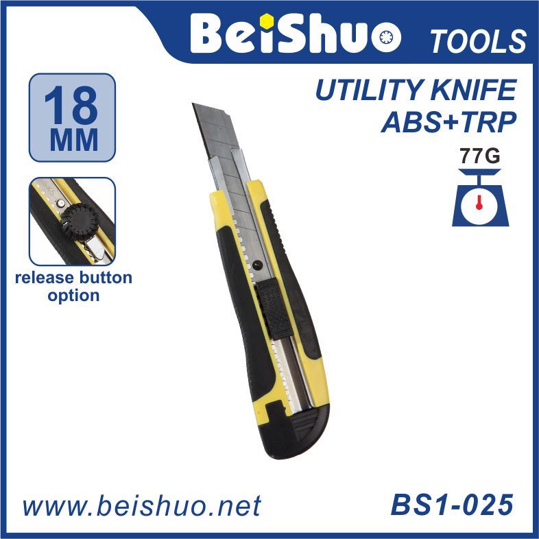 China made Multi Functional Sliding Blade abs plastic handle Cutter Utility knife
