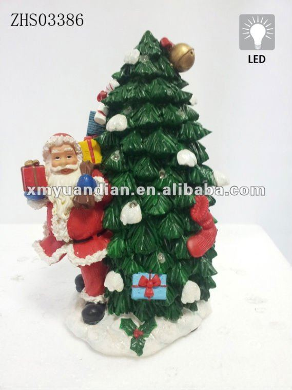 Xmas Tree and Santa LED light Christmas decoration