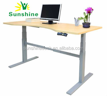 Electric Dual Motors Adjustable Desk Sit To Standing Up Office Desk