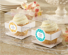 Clear hard plastic clear cupcake boxes PVC single cake boxes Customizable PVC box