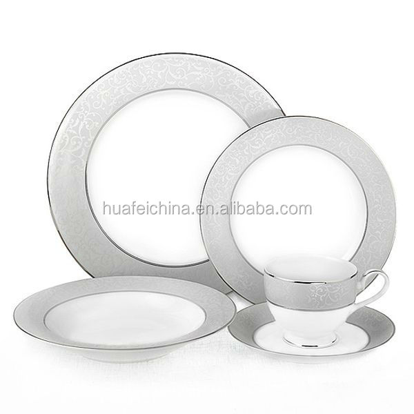30 pcs porcelain new bone china dinner set with grey color direct buy form factory