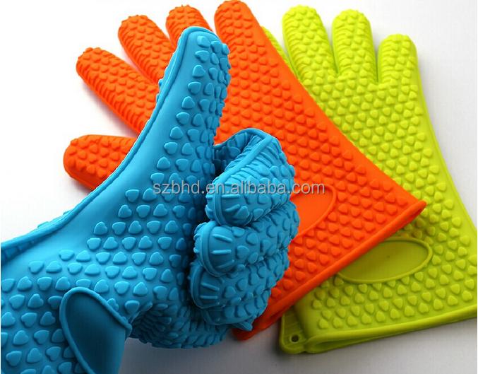 Al por mayor guantes de horno microondas guantes de horno de silicona con los dedos guante - Silicona para microondas ...
