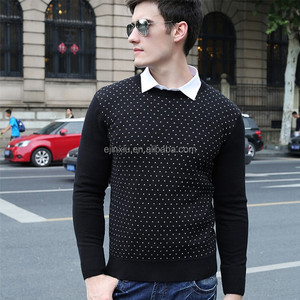 Small order support! Man clothes 100% cotton knitted nice sweaters for men cashmere sweater