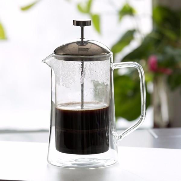 Borosilicate Glass 1l Double Wall French Press Coffee Maker - Buy French Press,Coffee Maker ...