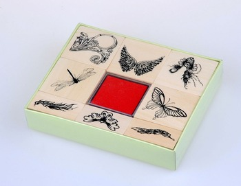 cheap price, Square wooden Stamp Set