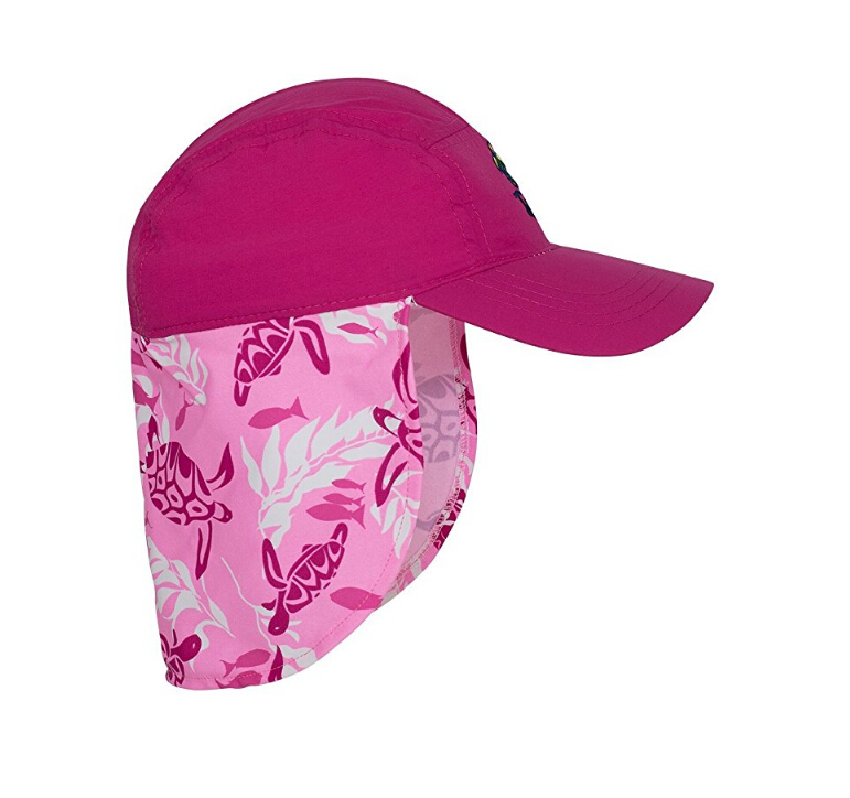 Factory price kids UPF 50+ UV ray sun protection hat with flap for outdoor sports