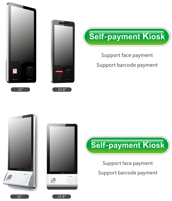 Professional Custom 24 Inch Interactive Kiosk Android System HD Touch Screen Payment Kiosk