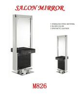 hair salon double face steel mirror station M826