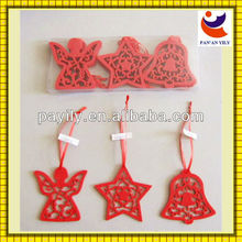 factory sale 2mm felt giveaways red color christmas decorations made in china