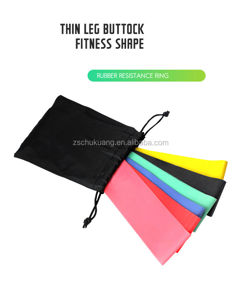 Highly Elastic Resistance Loop Exercise Bands Set Multi Colours OEM Available for Physical Therapy, Rehab, Stretching, Fitness