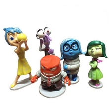 Animation 5 pcs set Inside Out toys PVC action figure Five Emotions Anger Joy Fear Disgust
