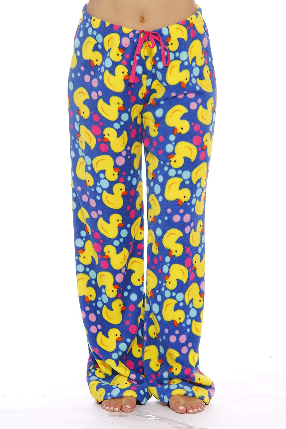 Just Love Women's Cute Character Print Plush Pajama Pants - Petite to Plus Size