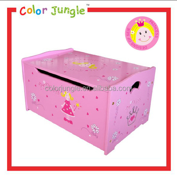 Ordinaire Decorative Wood Storage Box, Kid Favourite Toy Chest, Wooden Cartoon Toy  Storage Box