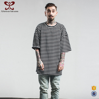 2017 A Forever Fairness O Neck 95 Cotton /5 Elastane Fashion Mens Oversize Hip Hop Wholesale Striped T Shirt