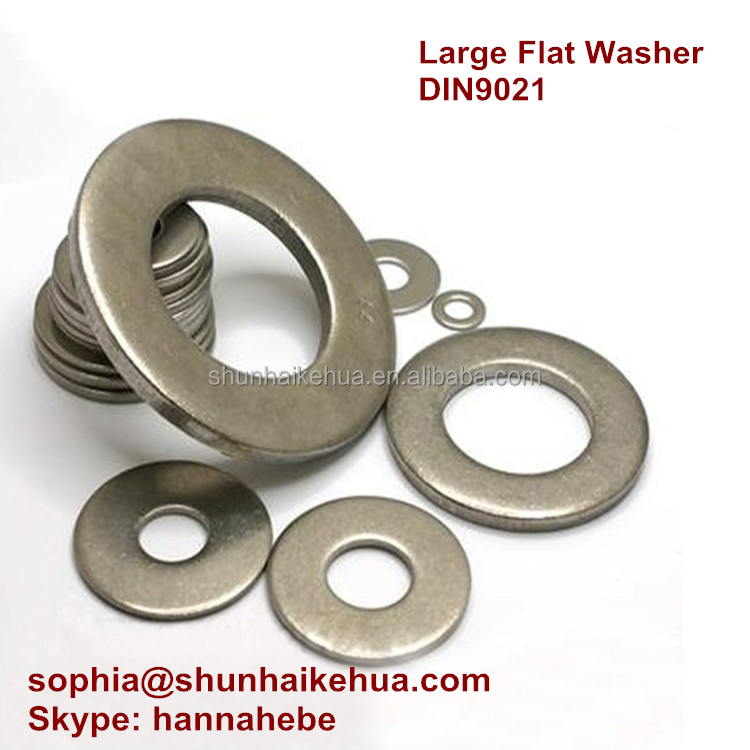 Low Price Din9021 Large Flat Washer / Plain Washer