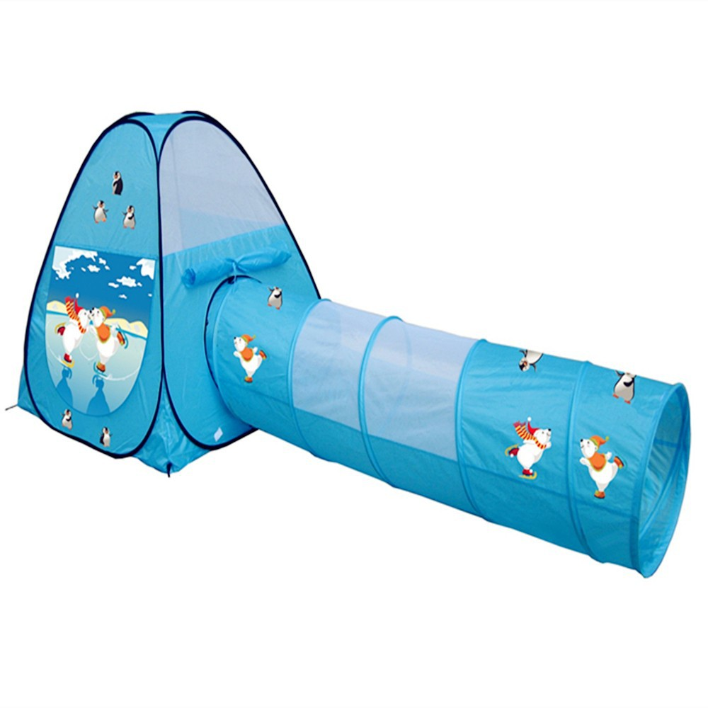 kinder pop up spielzelt mit tunnel haus spielzeug. Black Bedroom Furniture Sets. Home Design Ideas