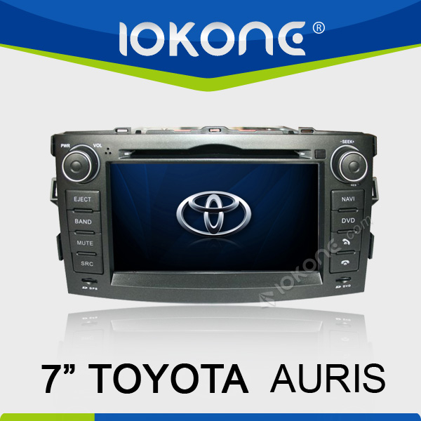 7'' autoradio touch screen 2 din car dvd players gps for TOYOTA AURIS