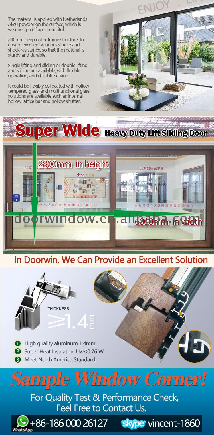 Factory direct supply triple pane sliding door glazed patio doors top track