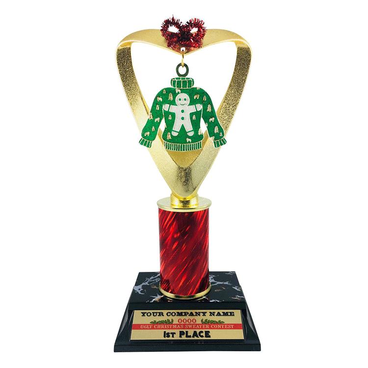 Souvenir Use Christmas Custom Metal SantaClaus wholesale trophy