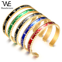 Fashion Stainless Steel 24K Gold Plated Watch Cuff Jewelry Man Italian Speedometer Bracelet