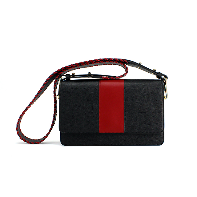 e2380fb1c3ff Luxury Designer Red Stripe Women Black Shoulder Bags Leather Sling Bag -  Buy Sling Bag Women