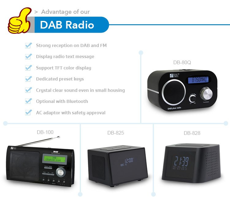 Free Shipping portable best personal dab radio with RDS and DLS