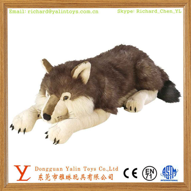 High quality plush stuffed wolves