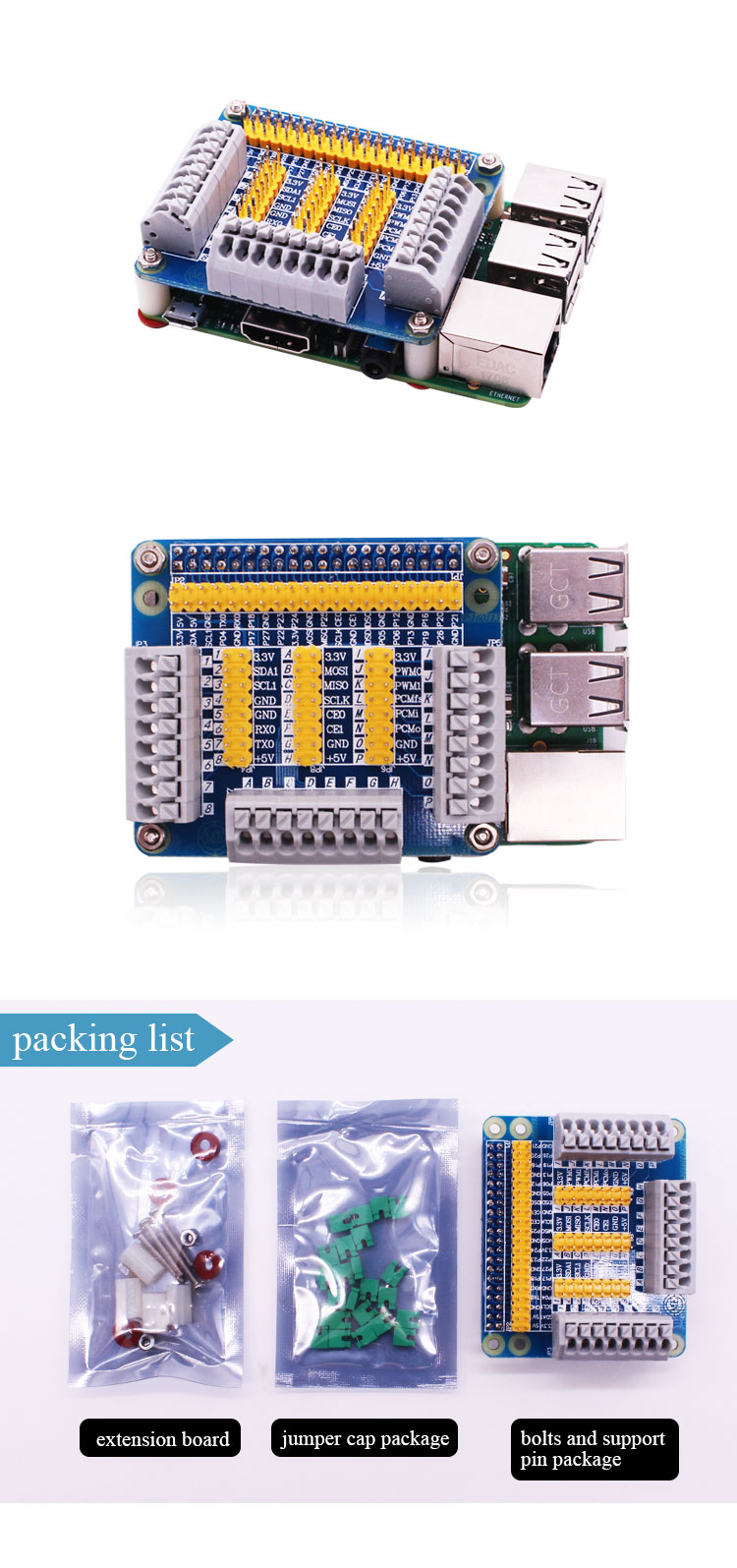 2018 GPIO Extension Board Multifunction Interface Module with screw For Raspberry Pi 3B+ RPi 3B 2 / 3 Model B PC