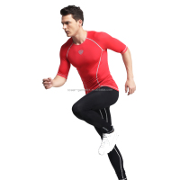 Mens Rash guard Active Wear Running Workout Compression Base Layer