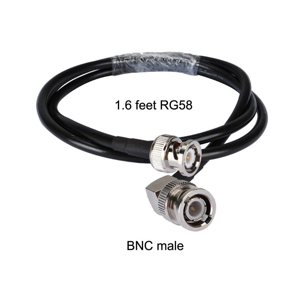 Cheap Coaxial Interface Find Deals On Line At Rg58 Cable Bnc Connector Schematics Get Quotations 16ft Rf Plug Ra To Male 50cm For Analog And