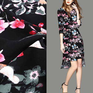 New arrival cheap 100% rayon pink butterfly wholesale floral print prom dress fabric
