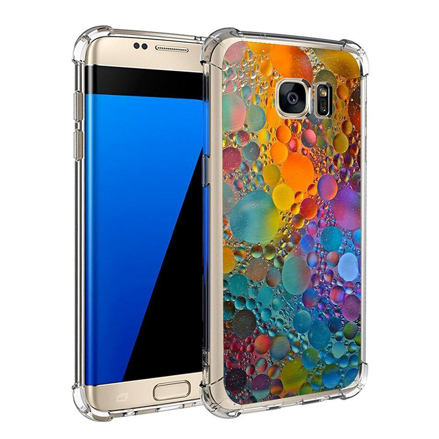 Compatible Case for Galaxy S7 S7 Edge Ultra Slim Protective Clear Soft TPU Reinforced Corners