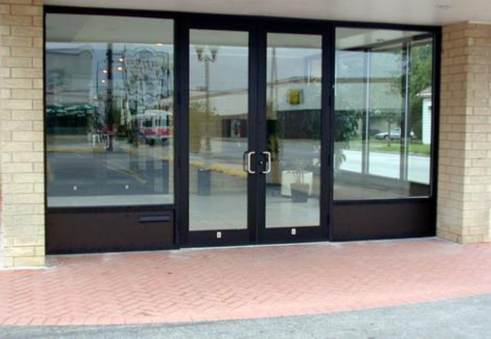 China Aluminum Commercial Swing Door China Aluminum Commercial