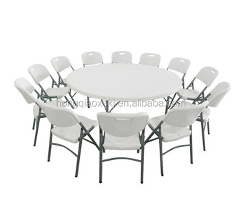 Big Circular Catering Table/folding Legs Plastic Table Round/wholesale Low  Price Round Banquet