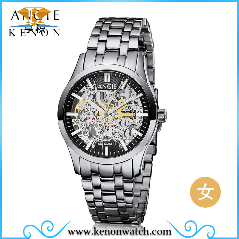 Angie brand watches luxury men mechanical watches sapphire waterproof 100m fashion men watch hours
