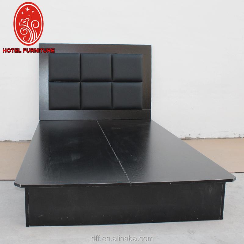 Mejor Precio 3 star Hotel muebles negro partículas cama con cabecera ...