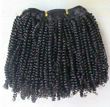 Kinky curl heat resistant synthetic hair extensions for black women