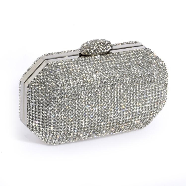 1638ebac63a6c elegante cristal brillando bolsos de noche de cristal bolso-Bolsos ...