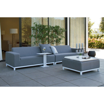 Modern Outdoor Sectional Sofa Set With Coffee Tea Table