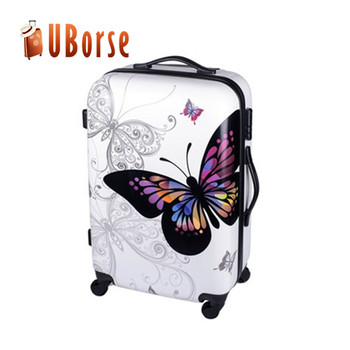 Butterfly Hard Trolley Suitcase 3pcs 20