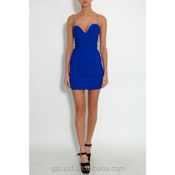 Kobaltblauwe jurk