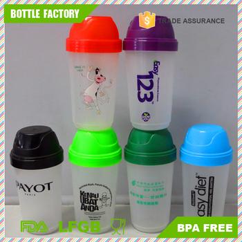 new styles ed184 6c6c4 Disesuaikan Anti Bocor Klasik Gaya Makanan Keselamatan 250 ml Plastik Botol  Pengocok Protein