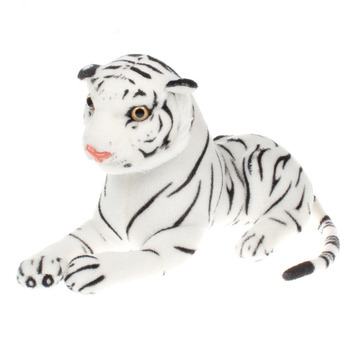 Simulation White Tigers Plush Animal Tiger Artificial Super Stuffed Realistic Tiger