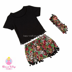 Hot Sale Baby Girls Summer Outfit Kids 2pcs Set