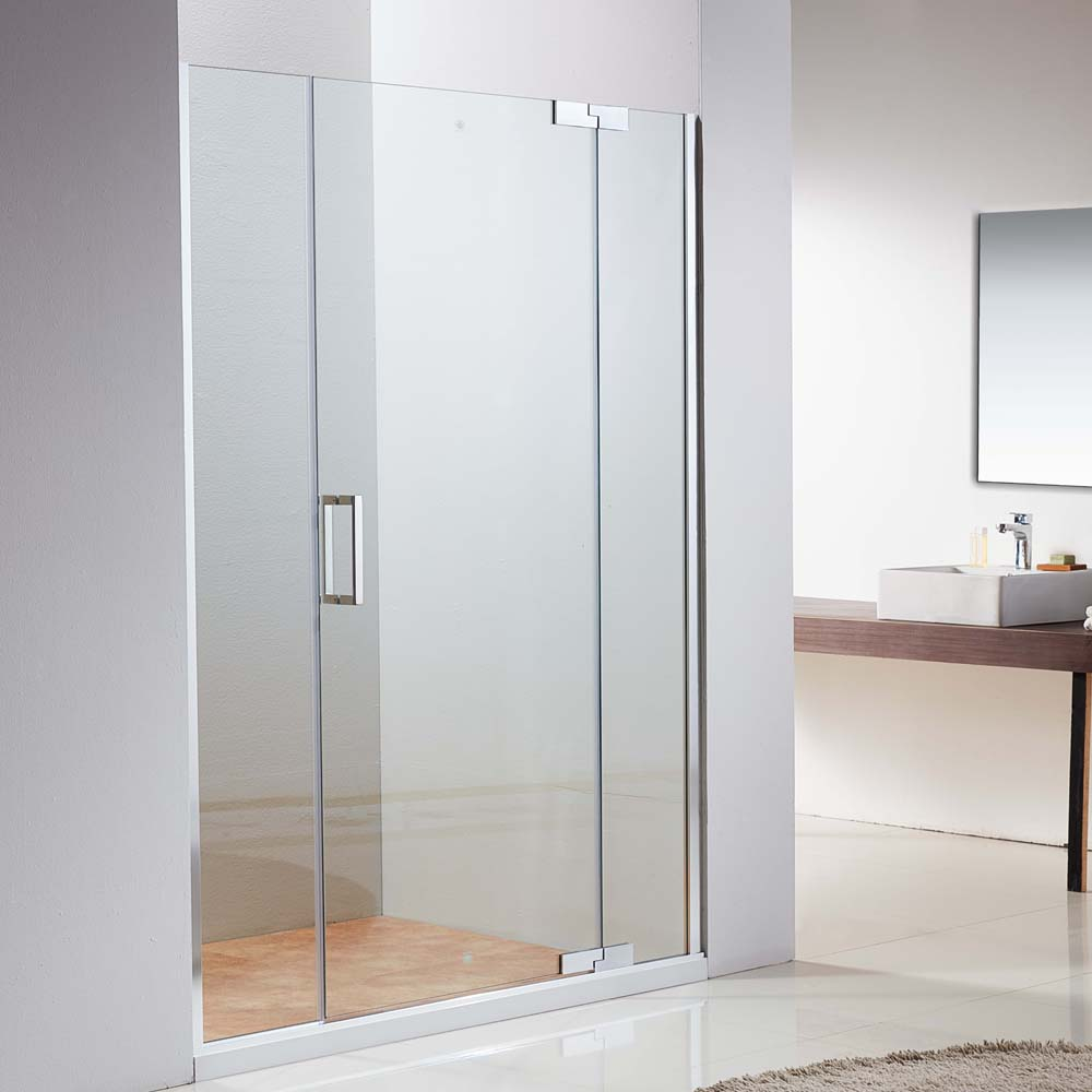 Adjustable Frameless Hinge Easy Clean Glass Shower Door JP206