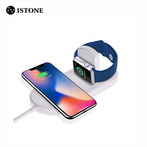 Mini AirPower Wireless Charger Support 7.5w Fast Charging for iPhone for Apple Watch series 1 2 3 Wireless Charger