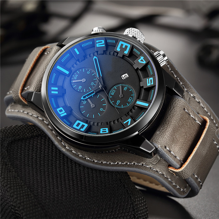 <strong>Hot</strong> Men's Watches Famous Luxury Brand Quartz Wristwatches Men Clock Military Business Watch