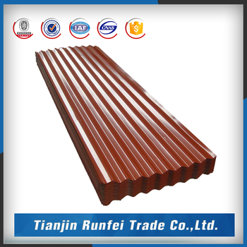 Carport Color Coated Corrugated Metal Roof Flashing/roofing Sheet