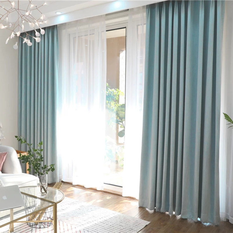 JR948 New Design Decorative Woven Polyester Fancy Window Full Blackout Curtain