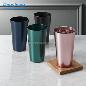 Food Safe Vintage Aluminum Tumblers, Metal Drinking Cups